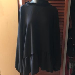 Black Friday Collar Long Sleeve Top